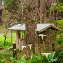 The Brook Cabin is adjacent the the camping ground at The Tree House